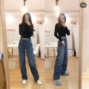 Uniqlo U lemaire high waist jeans - 65 blue